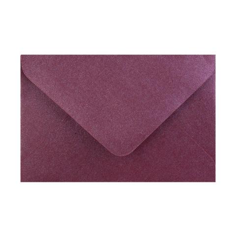 Aubergine Pärlemorfärgat kuvert